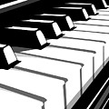 Piano Keyboard No2 by Michael Tompsett