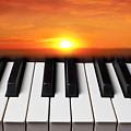 Piano Sunset by Garry Gay