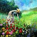 Picking Flower by Pol Ledent