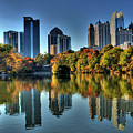 Piedmont Park Atlanta City View by Corky Willis Atlanta Photography