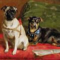 Pierette And Mifs by Charles van den Eycken