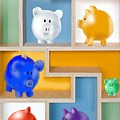 Piggy Banks by Arline Wagner