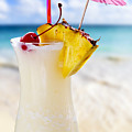 Pina Colada Cocktail On The Beach by Elena Elisseeva