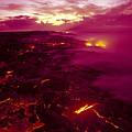 Pink Volcano Sunrise by Ron Dahlquist - Printscapes
