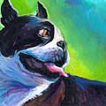 Playful Boston Terrier Print by Svetlana Novikova