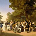 Politicians In The Tuileries Gardens by Louis Leopold Boilly