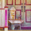 Porch - Cranford NJ - The birdhouse collector Print by Mike Savad
