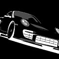 Porsche 911 Gt2 Night by Michael Tompsett