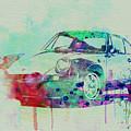 Porsche 911 Watercolor 2 by Naxart Studio