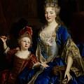 Portrait Of Catherine Coustard by Nicolas de Largilliere