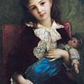 Portrait Of Catherine Du Bouchage by Antoine Auguste Ernest Hebert