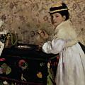Portrait Of Hortense Valpincon As A Child by Edgar Degas