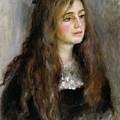 Portrait Of Julie Manet  by Pierre Auguste Renoir