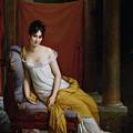 Portrait Of Madame Recamier by Francois Pascal Simon Gerard