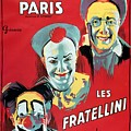Poster Advertising The Fratellini Clowns by French School