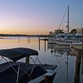 Potomac River At Sunrise Belle Haven Marina Alexandria Virginia by Brendan Reals