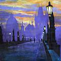 Prague Charles Bridge Sunrise by Yuriy  Shevchuk