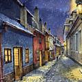 Prague Golden Line Winter by Yuriy  Shevchuk