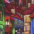 Prague Old Street 01 by Yuriy  Shevchuk