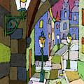 Prague Old Street Mostecka by Yuriy  Shevchuk
