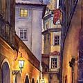 Prague Old Street  by Yuriy  Shevchuk