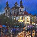 Prague Old Town Square St Nikolas Ch by Yuriy  Shevchuk