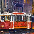 Prague Old Tram 09 by Yuriy  Shevchuk