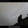 Praying Monk Lightning Striking Poster Print by James BO  Insogna