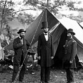 President Lincoln Meets With Generals After Victory At Antietam by International  Images