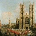 Procession Of The Knights Of The Bath by Canaletto