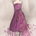 Purple Bow Dress by Lauren Maurer