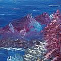 Purple Mountain Landscape by Jera Sky