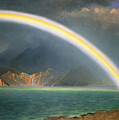 Rainbow Over Jenny Lake Wyoming by Albert Bierstadt