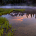 Rainier Sunrise Cap by Mike  Dawson