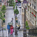 Montmartre, Paris in the rain