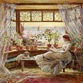 Reading By The Window by Charles James Lewis
