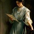 Reading The Letter  by Thomas Benjamin Kennington