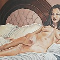 Reclining Nude by Kenneth Kelsoe