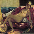Reclining Odalisque by Ferdinand Victor Eugene Delacroix