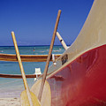 Red And Yellow Canoe by Joss - Printscapes