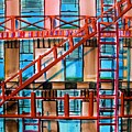 Red Fire Escape by John  Williams