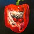 Red Pepper Oil Painting by Natalja Picugina