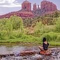 Red Rock Crossing -  Sedona Arizona Usa by Tony Crehan