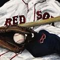 Red Sox number nine Print by Jack Skinner