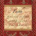 Red Traditional Faith by Debbie DeWitt