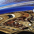 Reflection on a Parked Car 11 Print by Sarah Loft