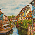 Reflections Of Colmar by Charlotte Blanchard