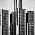 Renaissance Center - Black And White by Alanna Pfeffer