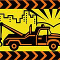 Retro Tow Truck by Aloysius Patrimonio