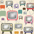 retro TV pattern  by Setsiri Silapasuwanchai